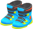 Ski Boots Item with Light Blue Variation in Animal Crossing: New Horizons