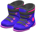 Ski Boots Item with Purple Variation in Animal Crossing: New Horizons