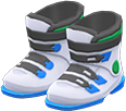 Ski Boots Item with White Variation in Animal Crossing: New Horizons