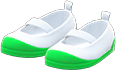 Slip-On School Shoes Item with Green Variation in Animal Crossing: New Horizons