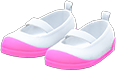 Slip-On School Shoes Item with Pink Variation in Animal Crossing: New Horizons