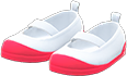 Slip-On School Shoes Item with Red Variation in Animal Crossing: New Horizons