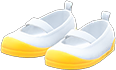 Slip-On School Shoes Item with Yellow Variation in Animal Crossing: New Horizons