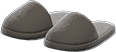 Slippers Item with Black Variation in Animal Crossing: New Horizons