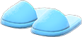 Slippers Item with Blue Variation in Animal Crossing: New Horizons