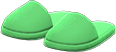 Slippers Item with Green Variation in Animal Crossing: New Horizons