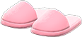 Slippers Item with Pink Variation in Animal Crossing: New Horizons
