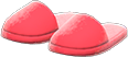 Slippers Item with Red Variation in Animal Crossing: New Horizons