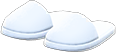 Slippers Item with White Variation in Animal Crossing: New Horizons