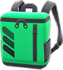 Square Backpack Item with Green Variation in Animal Crossing: New Horizons