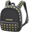 Studded Backpack Item with Black Variation in Animal Crossing: New Horizons
