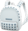 Studded Backpack Item with White Variation in Animal Crossing: New Horizons