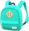 Town Backpack Item with Green Variation in Animal Crossing: New Horizons