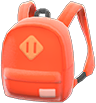 Town Backpack Item with Orange Variation in Animal Crossing: New Horizons