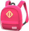 Town Backpack Item with Red Variation in Animal Crossing: New Horizons