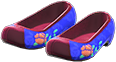 Traditional Flower Shoes Item with Blue Variation in Animal Crossing: New Horizons