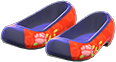 Traditional Flower Shoes Item with Red Variation in Animal Crossing: New Horizons