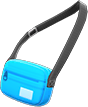 Travel Pouch Item with Light Blue Variation in Animal Crossing: New Horizons
