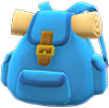 Traveler's Backpack Item with Blue Variation in Animal Crossing: New Horizons