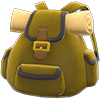 Traveler's Backpack Item with Brown Variation in Animal Crossing: New Horizons