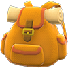 Traveler's Backpack Item with Orange Variation in Animal Crossing: New Horizons