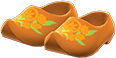 Wooden Clogs Item with Brown Variation in Animal Crossing: New Horizons