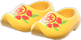 Wooden Clogs Item with Yellow Variation in Animal Crossing: New Horizons