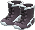 Wrestling Shoes Item with Black Variation in Animal Crossing: New Horizons