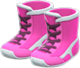 Wrestling Shoes Item with Pink Variation in Animal Crossing: New Horizons