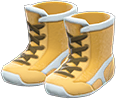 Wrestling Shoes Item with Yellow Variation in Animal Crossing: New Horizons