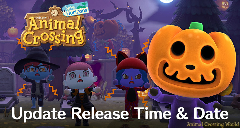 Date Halloween 2020 Time Animal Crossing: New Horizons Fall Halloween Update Release Time