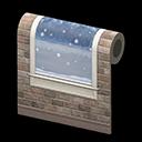 Muro de nieve que cae