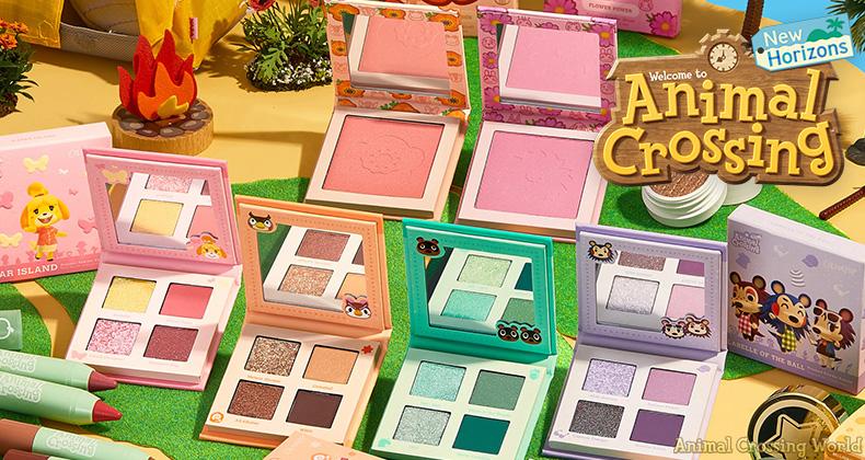 Animal Crossing New Horizons Colourpop makeup collection