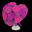 Heart-Shaped BouquetPurple