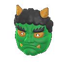Horned-Ogre MaskGreen
