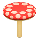 Large Mushroom Platform Item in Animal Crossing: New Horizons