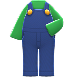 Luigi Outfit Item in Animal Crossing: New Horizons