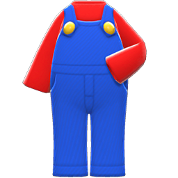 Mario Outfit Item in Animal Crossing: New Horizons