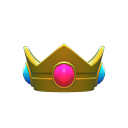 Princess Peach Crown Item in Animal Crossing: New Horizons