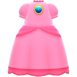 Princess Peach Dress Item in Animal Crossing: New Horizons