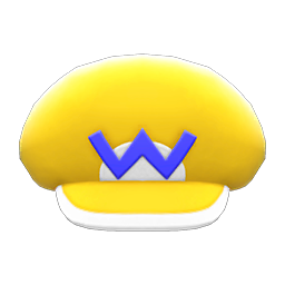 Wario Hat Item in Animal Crossing: New Horizons