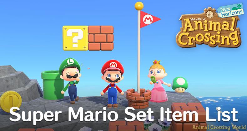 Super Mario Set Furniture Clothing, Super Mario Furniture Animal Crossing