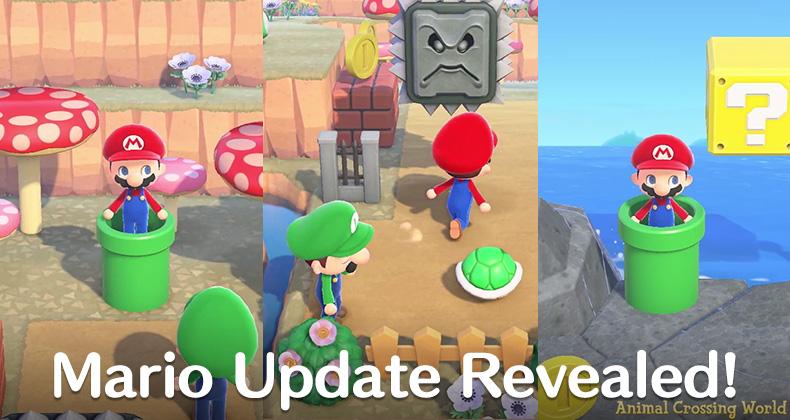 Super Mario Items Revealed With, Super Mario Furniture Animal Crossing