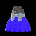 Bubble-Skirt Party Dress - Blue