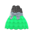 Bubble-Skirt Party Dress - Green