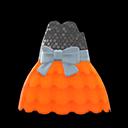 Bubble-Skirt Party Dress - Orange
