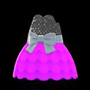 Bubble-Skirt Party Dress - Purple