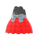Bubble-Skirt Party Dress - Red