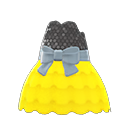 Bubble-Skirt Party Dress - Yellow
