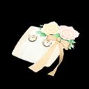 Nuptial Ring Pillow - White